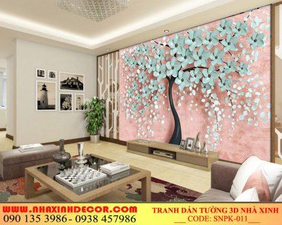 Tranh dán tường 3d Phòng khách SNPK_012