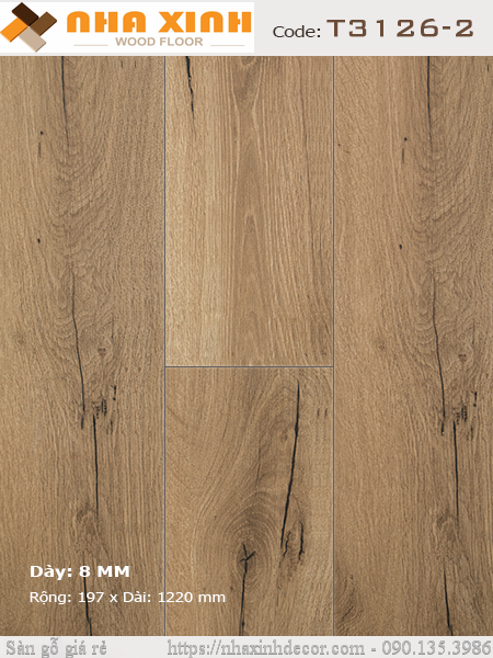 Sàn gỗ NHÀ XINH T3126-2