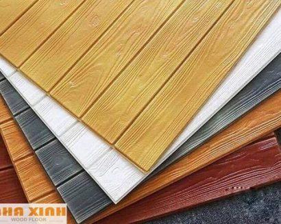 Xốp dán tường giả gỗ 3D ( đủ màu )