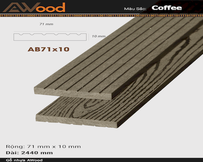 AWood AB71x10 Coffee