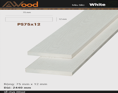 AWood PS75x12 White