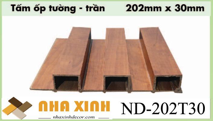Gỗ nhựa composite ốp tường trần nhà ND-202T30