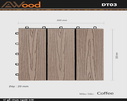 Vỉ AWood DT03 WG Coffee