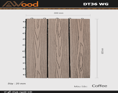 Vỉ AWood DT36 WG Coffee