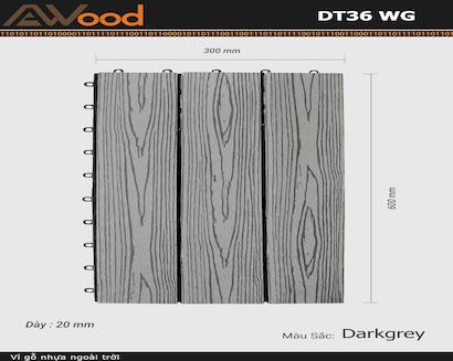 Vỉ AWood DT36 WG Darkgrey