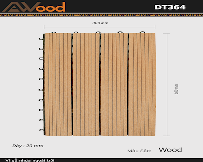 Vỉ AWood DT364 Wood