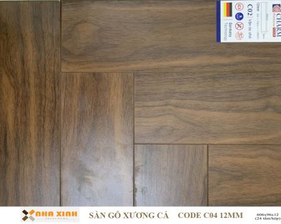 Sàn gỗ xương cá C04