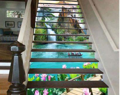 Tranh bậc cầu thang PTD153