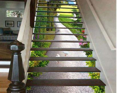 Tranh bậc cầu thang PTD156