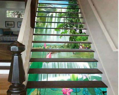 Tranh bậc cầu thang PTD212